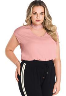 Posthaus Blusa Preta Metalizada Plus Size Marguerite. Ir para a loja  -50%  Blusa Secret Glam Rosa f807ba24574b3