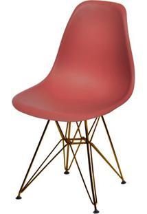 Cadeira Eames Polipropileno Vinho Base Cobre - 45977 - Sun House