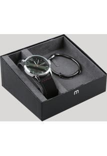 Kit De Relógio Analógico Mondaine Masculino + Pulseira - 99392G0Mvni1K Prateado - Único