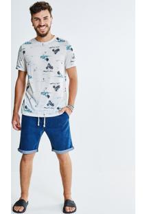 Bermuda Jeans Com Cadarço