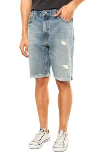 Bermuda Jeans Levis Destoyed Azul