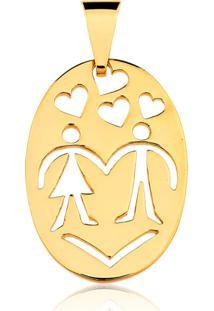 Pingente Toque De Joia Namorados Dourado - Kanui