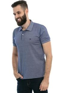 Camisa Polo D'Affari Contrastante Masculina - Masculino