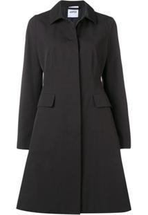 Aspesi Buttoned Trench Coat - Preto