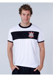 Camiseta Básica Masculina Corinthians - Branco