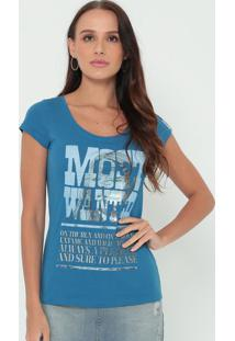 "Blusa ""Most Wane""- Azul & Off White- Guessguess"