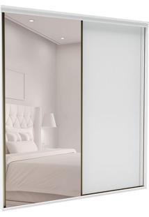 Guarda-Roupa Casal Com Espelho Inovatto 2 Pt 6 Gv Branco