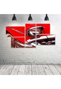 Quadro Decorativo - Red-Car - Composto De 5 Quadros - Multicolorido - Dafiti