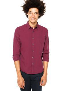 Camisa Ellus 2Nd Floor Dark Stripe Vinho