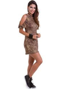 Vestido Manola Izabeli - Feminino-Marrom