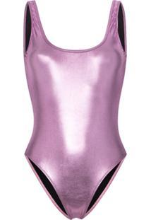 Beth Richards Tie Tank One-Piece Swimsuit - Rosa