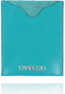 Carteira Slim Campezzo Couro Turquesa - Azul - Feminino - Dafiti