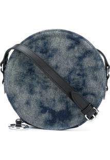 Diesel Bolsa Transversal Jeans Tie-Dye - Azul