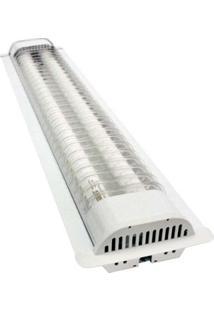 Luminária De Embutir Com 2 Lâmpadas 18W Branca Taschibra