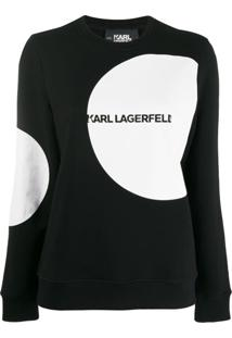 Karl Lagerfeld Moletom Karl Dots Com Logo - Preto