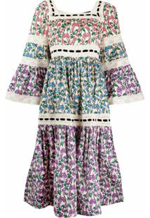 Marc Jacobs Vestido De Crochê Com Estampa Floral - Neutro
