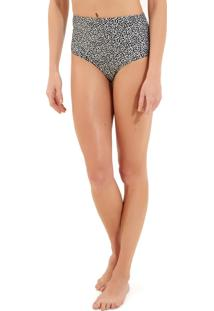Calcinha Rosa Chá Audrey Modern Dots Beachwear Estampado Feminina (Modern Dots, Pp)