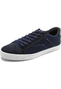 Tênis Calvin Klein Recortes Azul-Marinho