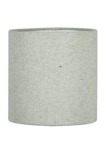Cúpula Cilindrica De Abajur Tecido Rustico Escuro 15X16Cm