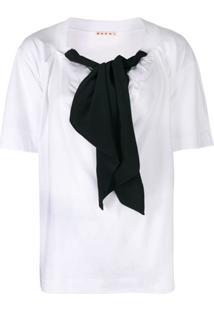 Marni Blusa Com Amarração - Branco