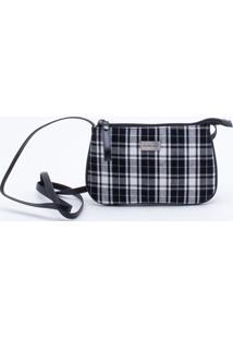 Bolsa Shoulder Bag Xadrez Preta