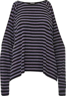 Blusa Calvin Klein Jeans Listrada Roxa - Kanui