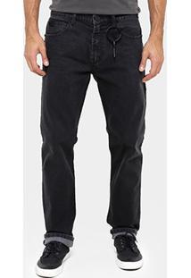 Calça Ellus Slim Fit Stone Black Chaveiro - Masculino-Jeans