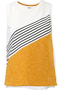 Regata Hering Listrada Off-White/Amarelo