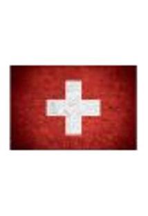 Painel Adesivo De Parede - Bandeira Suíça - 1020Pnp