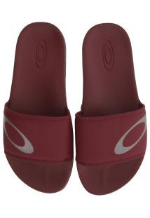 Chinelo Oakley Malibu - Slide - Masculino - Vermelho