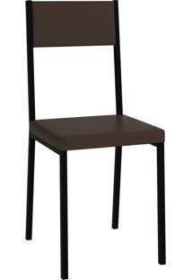 Cadeira Easy Cacau E Preta