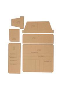 Carteira De Acrílico Transparente Modelo De Padrão Manual De Carteira Diy Couro Para Carteira Longa