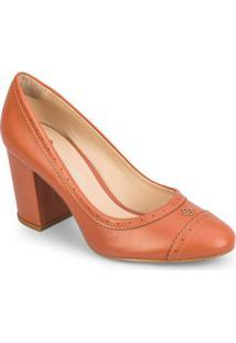 Sapato Tradicional Com Microfuros - Marrom Claro- Sacapodarte