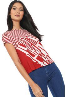 Blusa Iódice Lianan Off-White/Vermelha