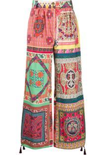 Etro Calça Pantalona Com Detalhe De Tassel - Neutro