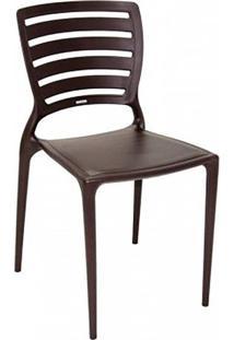 Cadeira Sofia Marrom Encosto Vazado - Tramontina