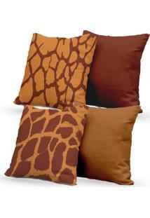 Kit 4 Capas De Almofadas Decorativas Own Estampas Animal Print 45X45 - Somente Capa