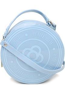 Bolsa Petite Jolie Round Feminina - Feminino-Azul