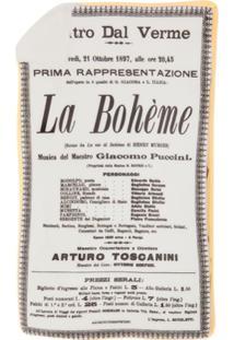 Fornasetti Bandeja Cinza Em Porcelana Modelo 'La Bohème'.