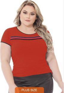 Blusa Berthage Com Cadarço Vermelho