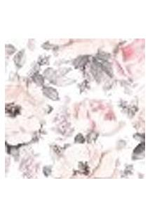 Papel De Parede Adesivo Floral Rosa Pastel 2,70X0,57M