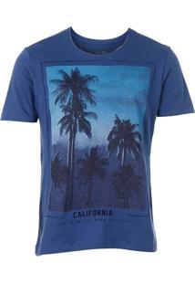 Camiseta Masculina Km - Azul