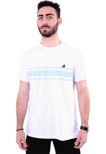 Camiseta England Polo Club Masculina - Masculino-Branco