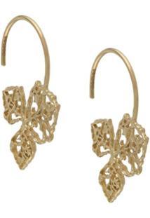 Natalie Perry Par De Brincos De Argolas Em Ouro 9K - Dourado