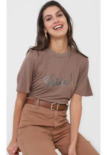 Camiseta Dzarm Glitter Marrom - Kanui