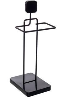 Toalheiro- Preto- 39X15,5X18Cm- Metaltrumetaltru
