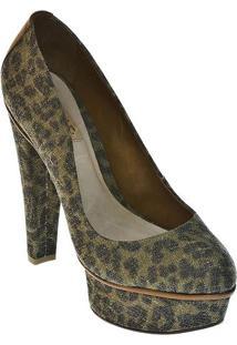 Sapato Meia Pata Animal- Preta & Verdeschutz