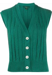 Jejia Maglia Sleeveless Cardigan - Verde