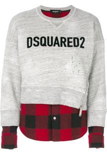 Dsquared2 Blusa De Moletom Com Sobreposição - Cinza