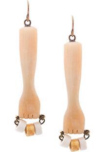 Marni Hand Shaped Earrings - Neutro